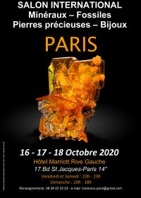 Feria Internacional de Joyería de Piedras Preciosas de Minerales Fósiles de París
