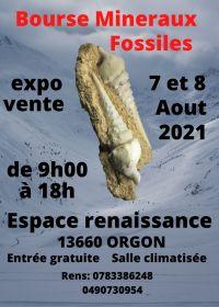 5o intercambio de minerales fósiles de Orgon