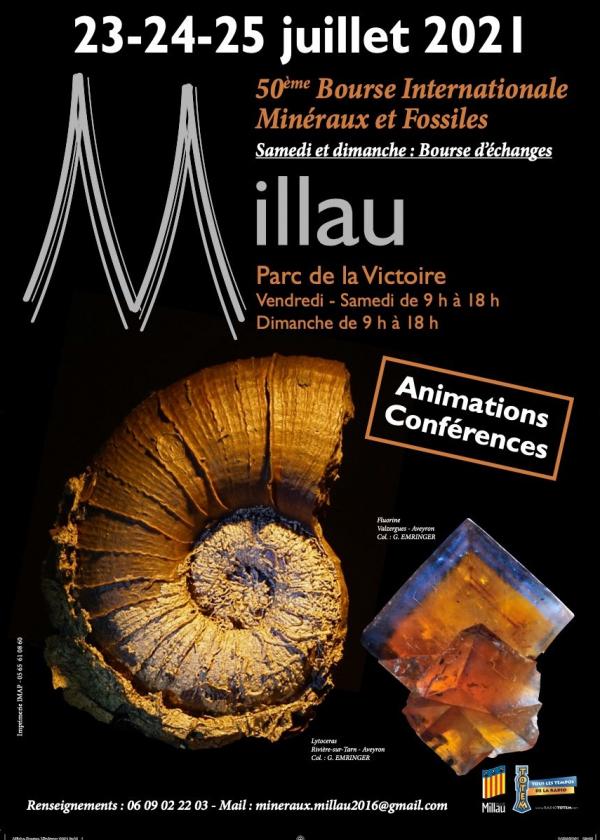 50 ° Intercambio Internacional de Gemas de Minerales Fósiles de Millau