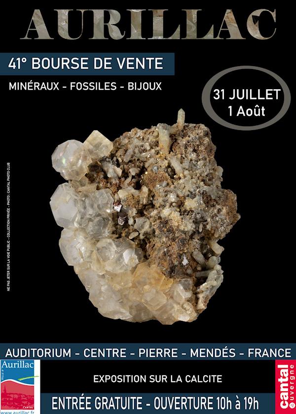 41 ° intercambio de minerales, fósiles y joyas en Aurillac