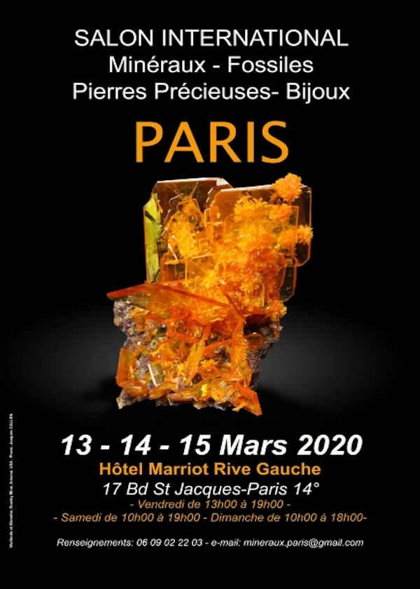 Feria internacional, minerales, fósiles, gemas, joyas.