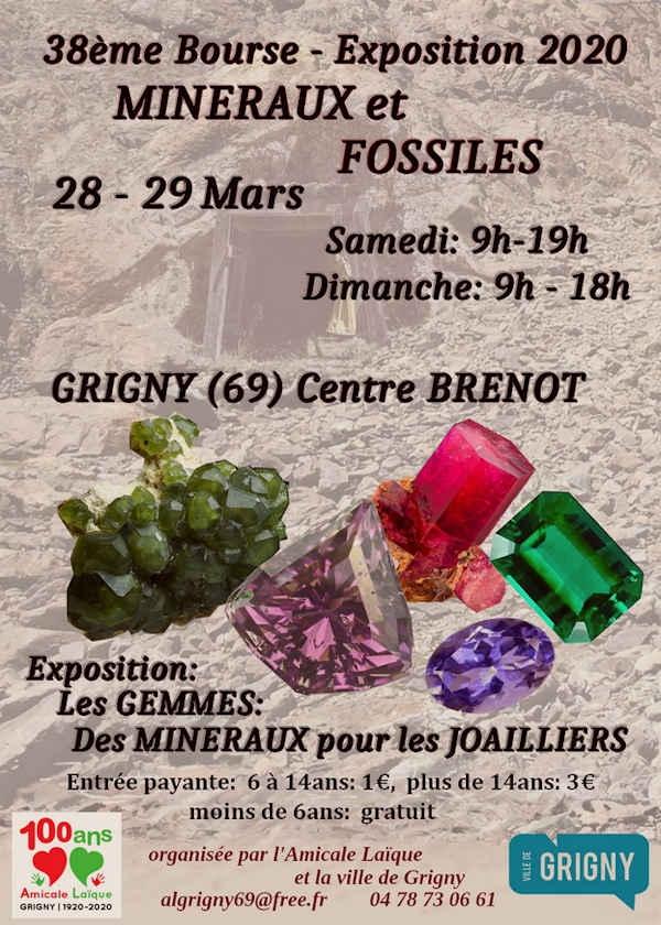 38ª exposición de minerales y fósiles.