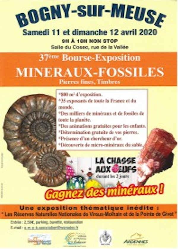 37a exposición de bolsa de minerales fósiles sellos de piedras finas