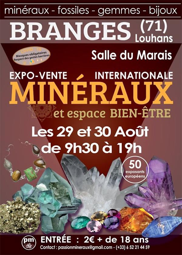 Primera exposición exposición venta de minerales de Branges