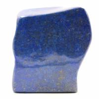 Bloque de piedra de lapislázuli con forma ornamental abstracta