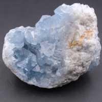 Cristales de celestita azul