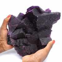 Excepcional cristalización de fluorita de color púrpura oscuro