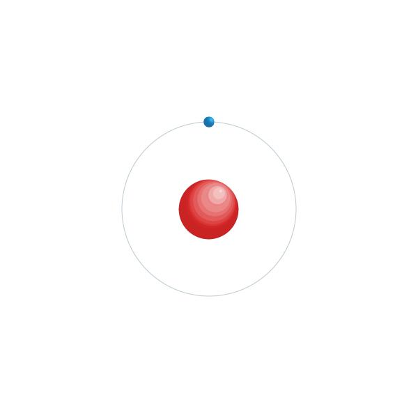 hidrógeno Diagrama de configuración electrónica