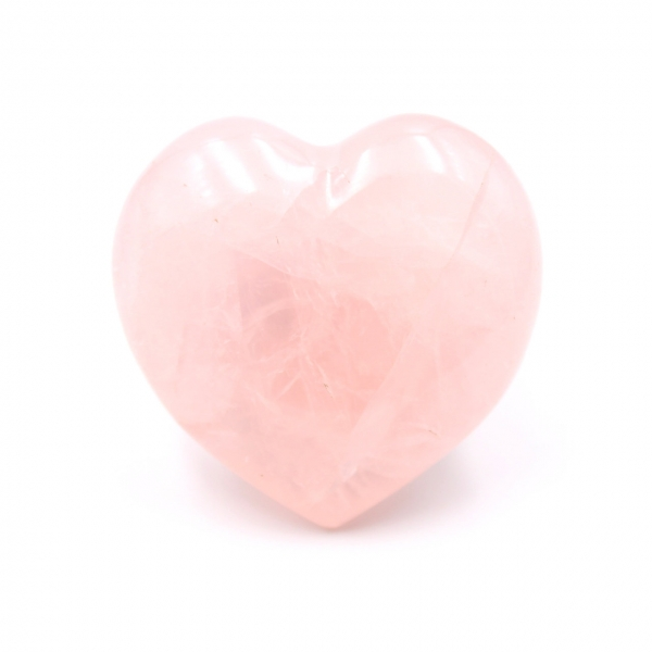 Rosa cuarzo corazon de madagascar