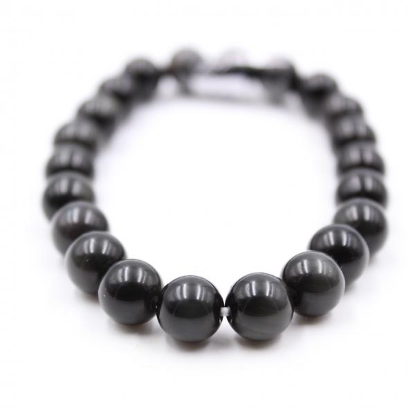 Pulsera de obsidiana de 8 mm.
