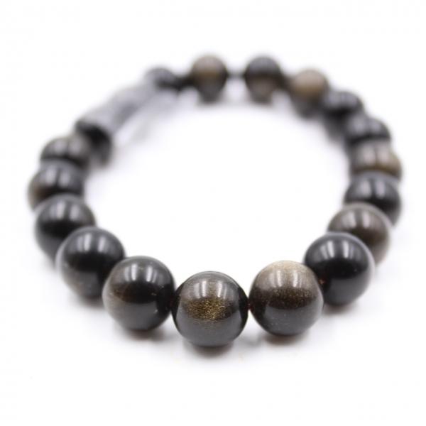 Pulsera de obsidiana 10 mm.