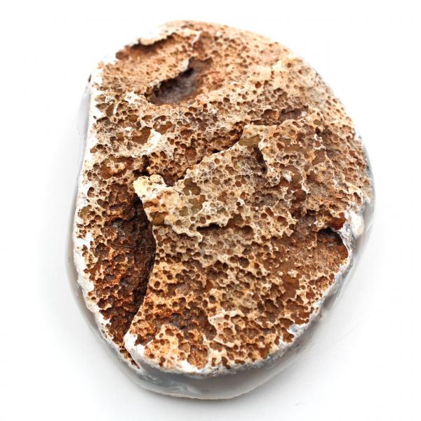 Cuarzo sobre ágata pulida