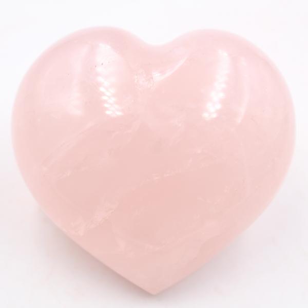 Corazón de cuarzo rosa