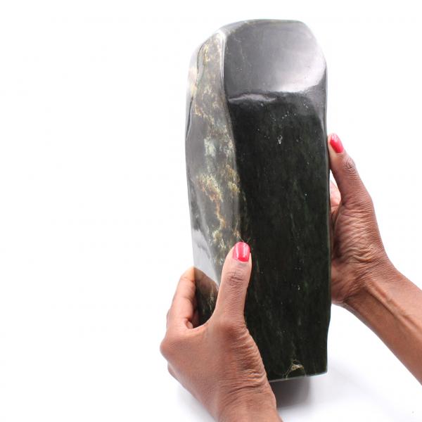 Jade Stone Nephrite forma libre de adorno