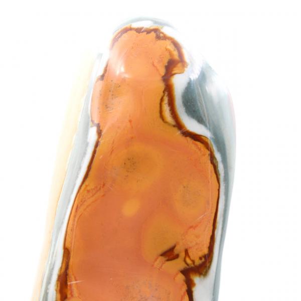 Jaspe estampado freeform pulido azul naranja 3 kilo