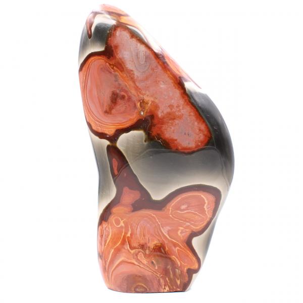 Bloque decorativo en jaspe estampado, rosa marrón naranja