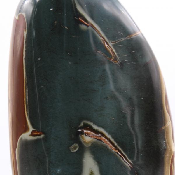 Gran jaspe estampado pulido, gris azulado y marrón