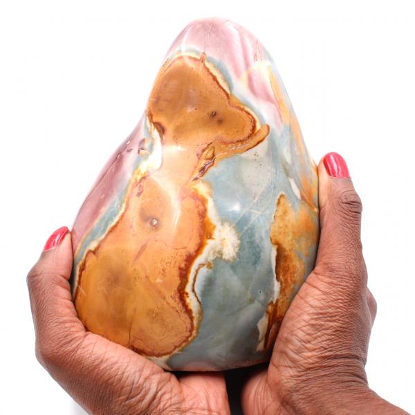 Jaspe estampado, piedra decorativa, 2 kilo, rosa azul naranja