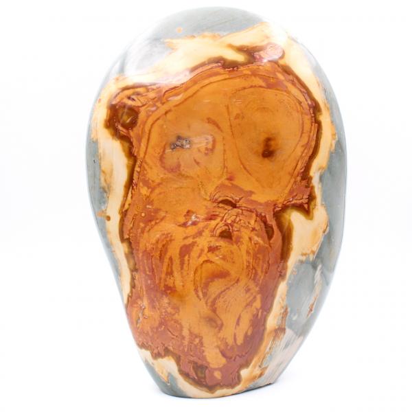 Jaspe estampado de caras, 3 kilo, piedra decorativa pulida