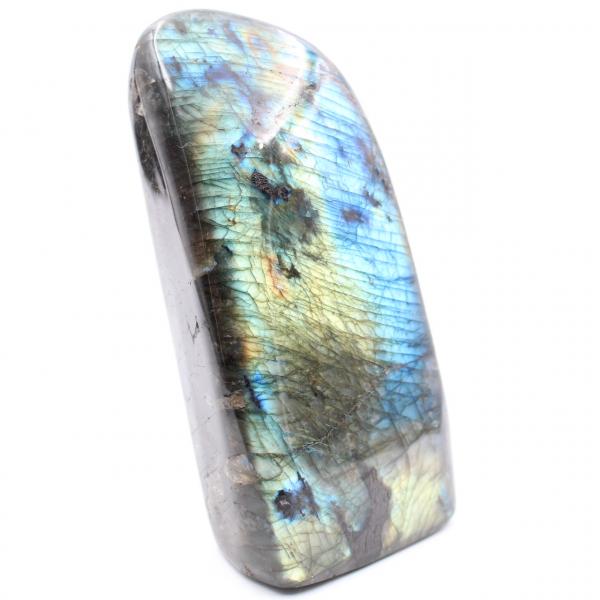 Piedra de labradorita amarilla azul de forma libre