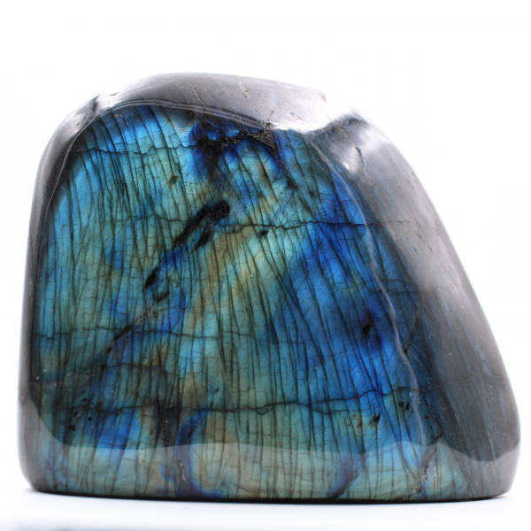 Bloque de labradorita con reflejos azules
