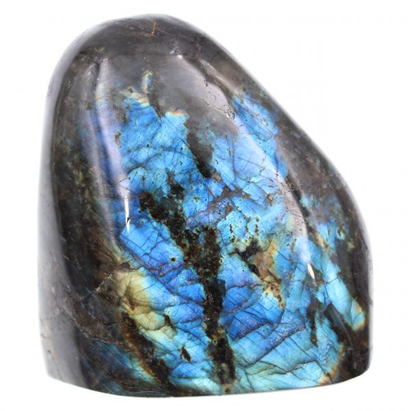 Piedra labradorita azul de forma pulida