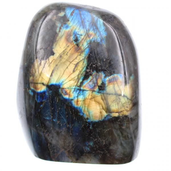 Labradorita con reflejos amarillos, piedra decorativa