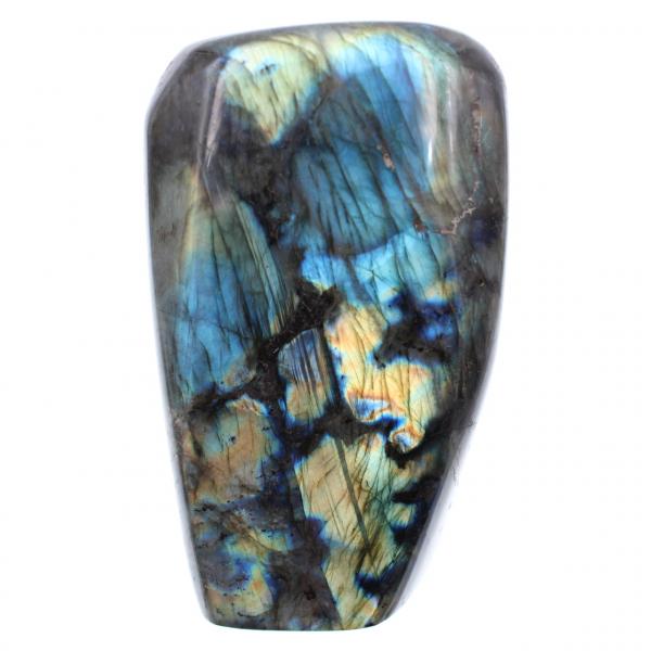 Piedra ornamental azul labradorita amarilla