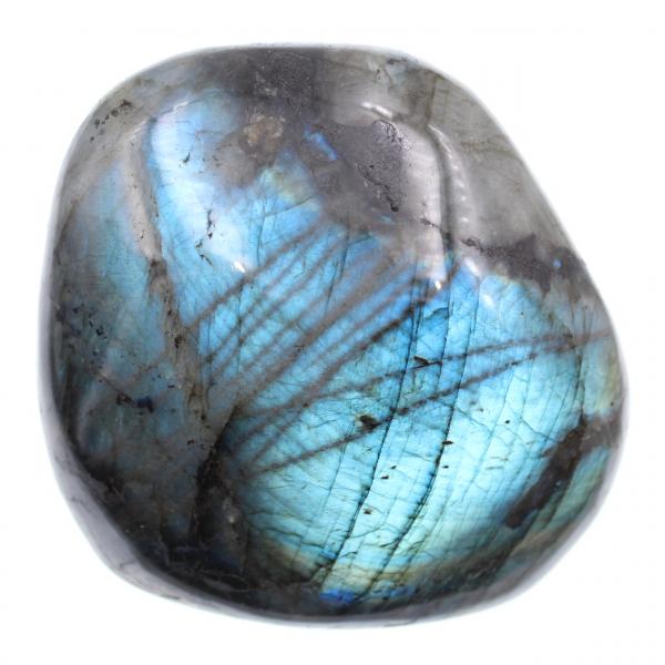 Piedra de labradorita de bloque pulido azul