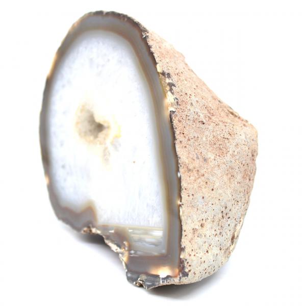 Geoda de media cuarzo de ágata