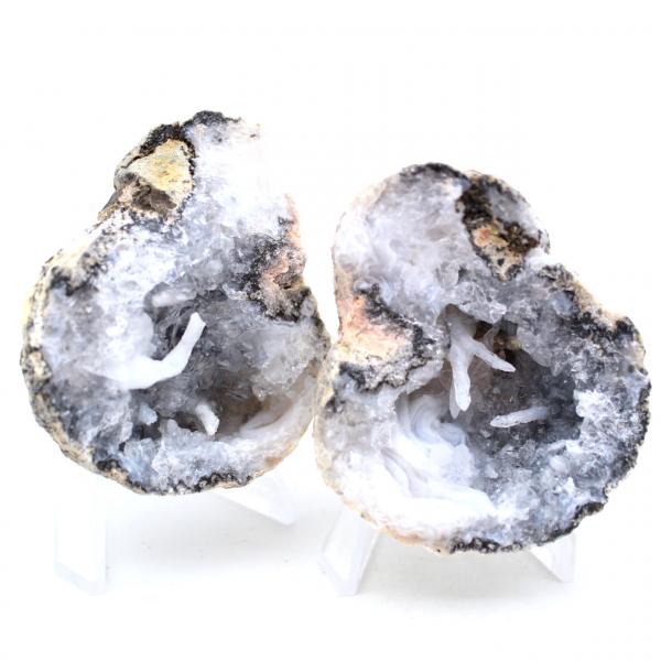 Geoda de ágata de coco entera