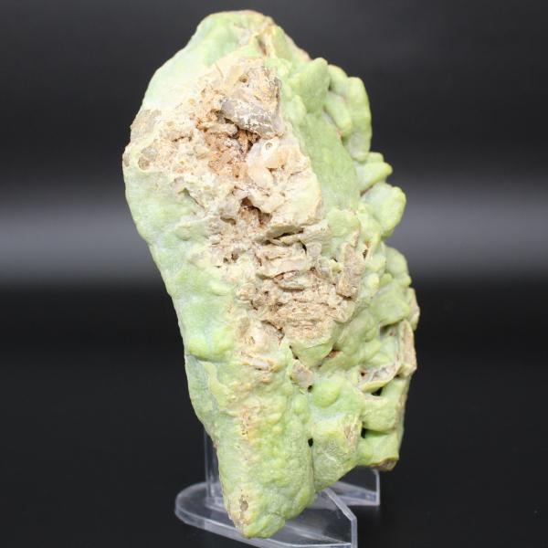 Piromorfita verde en placa