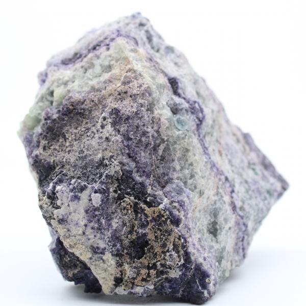 Fluorita verde violeta masiva