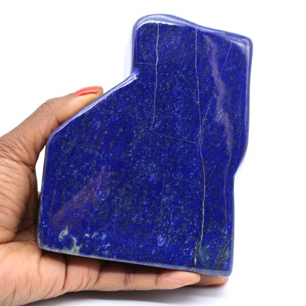 Gran bloque de lapislázuli pulido para colección.