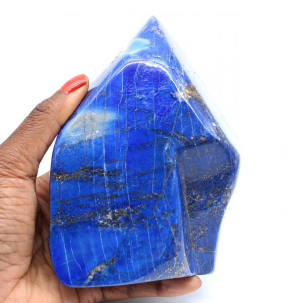 Piedra pulida piedra lapislázuli grande